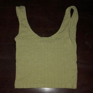 pale lime green forever21 tank top